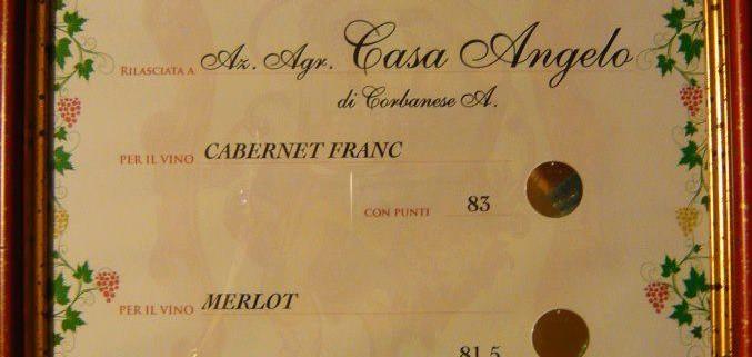 38^ Mostra dei Vini di Candelù - Medaglia d'argento